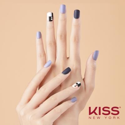 KISS New York-Press&Go頂級光療指甲貼片(高冷莫藍迪 KPNS18K)