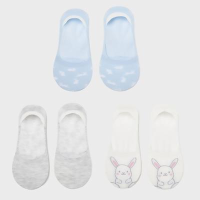 6IXTY8IGHT兔子圖案船型襪3雙入8F1米白色 AC03382