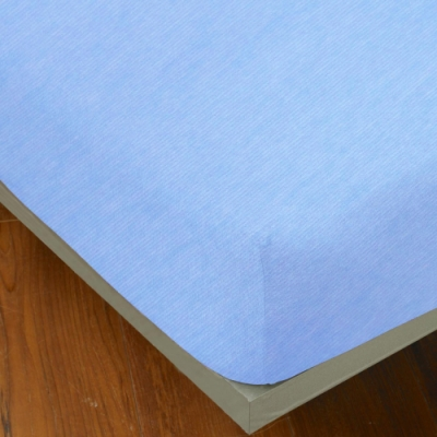 YVONNE COLLECTION 細條紋純棉床包(加大180x186公分)-淺藍