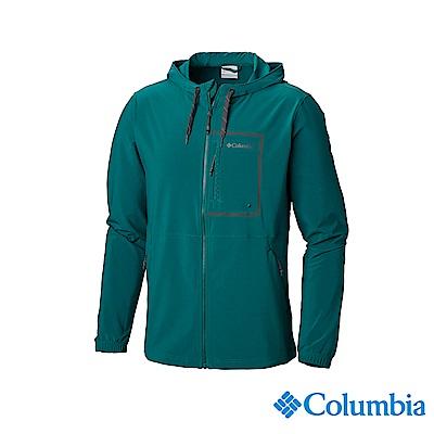 Columbia 哥倫比亞 男款-UPF50防潑防曬外套-綠色 UAO06390GR