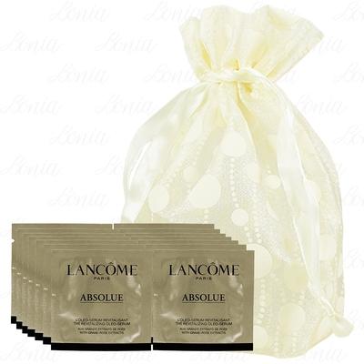 LANCOME 蘭蔻 絕對完美黃金玫瑰修護精華(1ml)*14旅行袋組