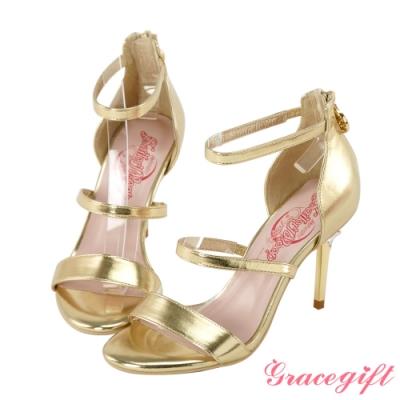 Grace gift-美少女戰士寶石變身器高跟涼鞋 金