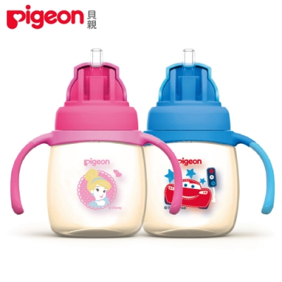 日本《Pigeon貝親》迪士尼PPSU第3階段訓練吸管水杯(多款可選)
