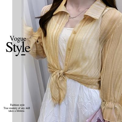 2F韓衣-時尚翻領排扣鬆緊袖口造型外套-3色(M-XL)