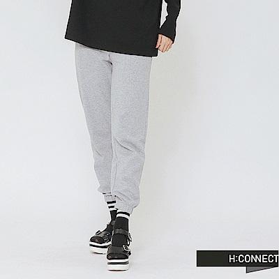 H:CONNECT 韓國品牌 女裝-束口設計休閒棉褲-灰