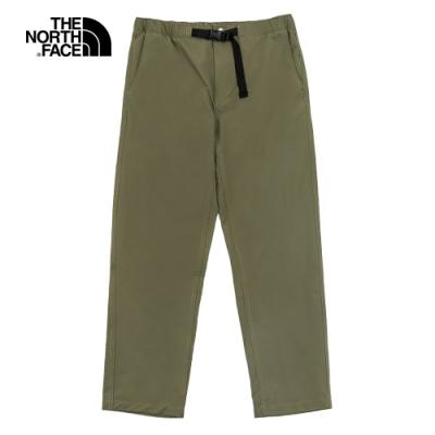 The North Face北面男款綠色防潑水休閒褲|4U8T7D6