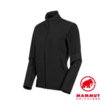 【Mammut 長毛象】Madris ML Jacket 刷毛立領外套 黑色 女款 #1014-02430