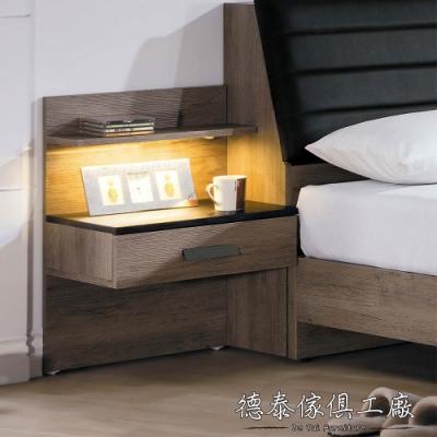 D&T 德泰傢俱 Dean工業風 懸空式床頭櫃-48x37x70cm