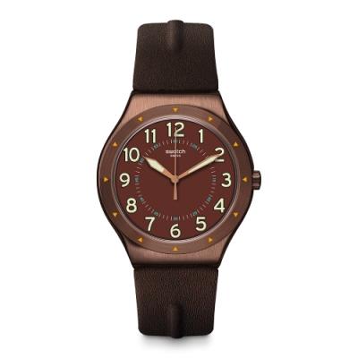 Swatch 金屬系列手錶 COPPER TIME 一銅出遊-43mm
