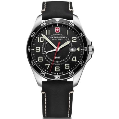 VICTORINOX 維氏 FieldForce系列 異地穿梭者 兩地時間腕錶 VISA-241895/42mm