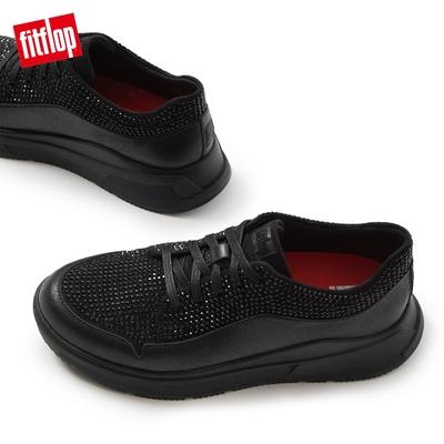 【FitFlop】FREYA SPARKLE SNEAKERS 運動風繫帶休閒鞋-女(靓黑色)