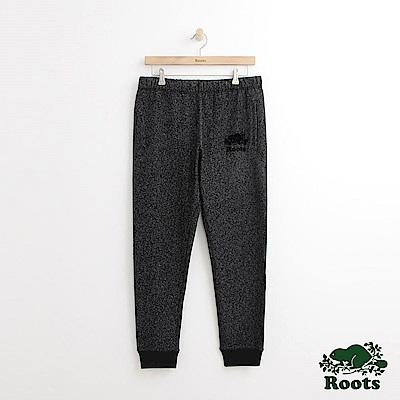 Roots 男裝-經典棉質長褲-黑色