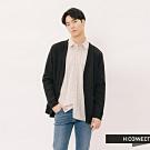 H:CONNECT 韓國品牌 男裝 - 簡約排扣雙口袋外套-黑