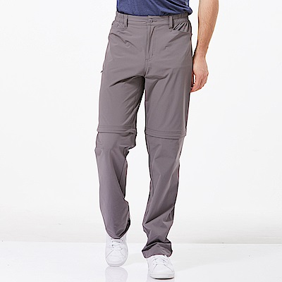 【HAKERS 哈克士】男 快乾彈性可拆式長褲-灰色