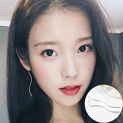 梨花HaNA 韓國925銀針小銀珠曲線耳線耳環