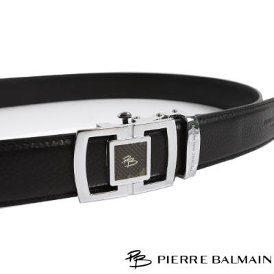 PB皮爾帕門 條橢框中正紳士自動扣皮帶(708)