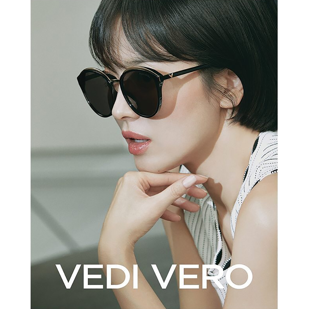 VEDI VERO 圓框 太陽眼鏡 (黑配金)VE801