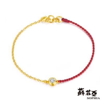 蘇菲亞SOPHIA - G LOVER系列經典水晶黃金手鍊