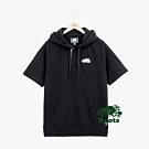 男裝Roots 經典毛圈布短袖連帽上衣-黑