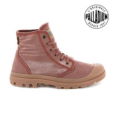 Palladium  PALLADENIM單寧帆布靴-女-磚紅