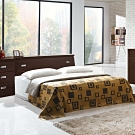 凱曼  特洛伊5尺雙人床組-三件式(床頭箱+床底+床墊)-三色可選