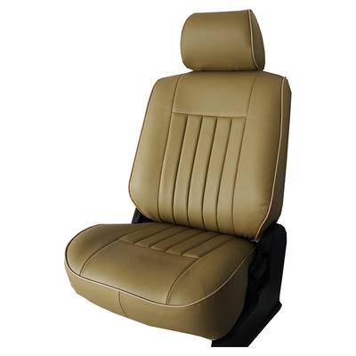 【葵花】量身訂做-汽車椅套-合成皮-復古型-單色-轎車款-1+2排