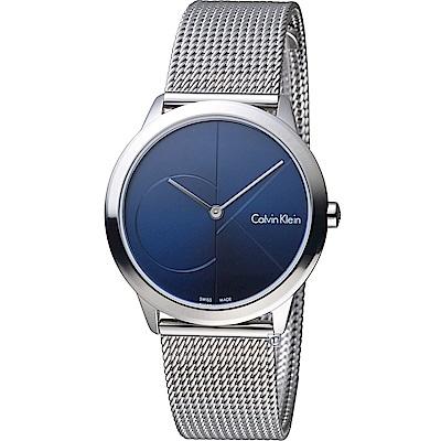 Calvin Klein Minimal 大cK米蘭時尚腕錶(K3M2212N)