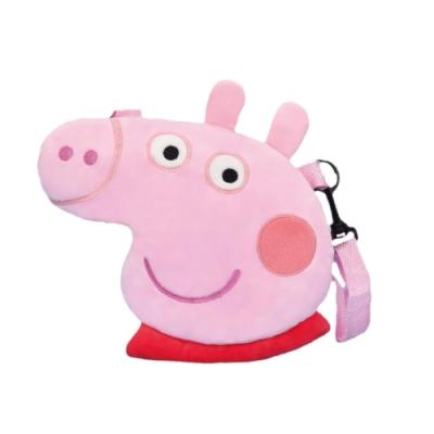 英國Peppa Pig 粉紅豬小妹頭型側背包 小豬佩奇