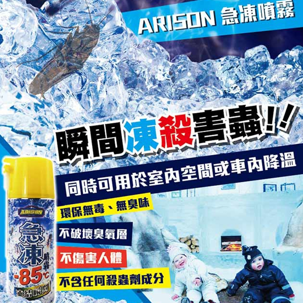 【ARISON】凍結瞬間急凍噴霧特大瓶450ml(殺蟑 急凍)