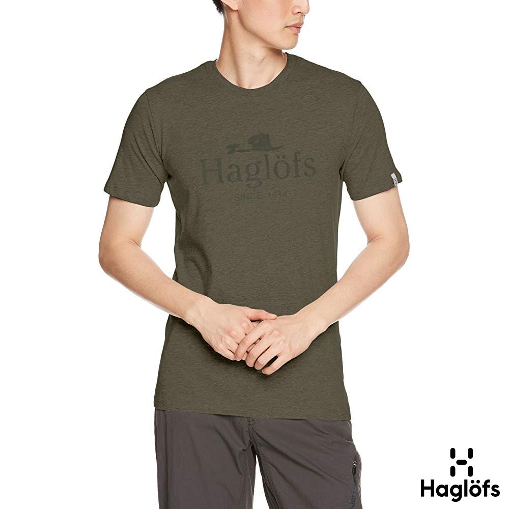 六折↘Haglofs 男 Gamper 有機棉T恤 聖人綠色