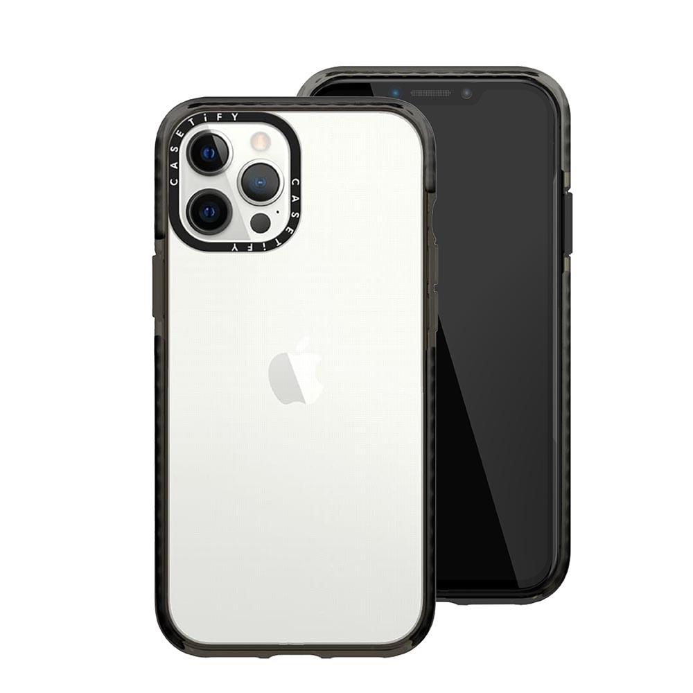 Casetify iPhone 12 Pro Max 耐衝擊保護殼-透黑