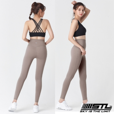 STL Yoga Leggings Free Line 9 韓國瑜珈『無尷尬線』 高腰壓腹 訓練拉提緊身褲 自由曲線 裸杏 重訓/路跑/登山/瑜珈