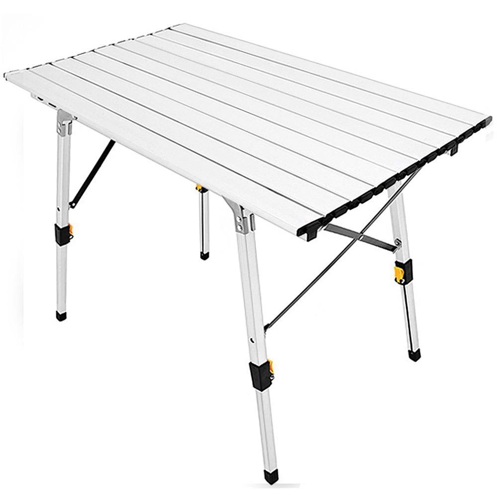高低可調式鋁合金折疊桌(贈送收納袋) 摺疊桌折合桌-(快)