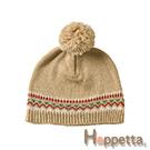 Hoppetta 毛球緹花編織毛帽(棕)