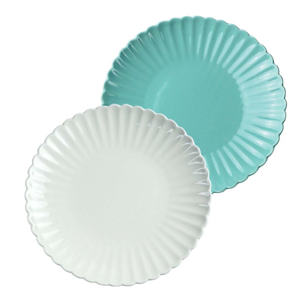 Caldo卡朵生活 日式雅菊8吋花皿陶瓷餐盤20.5cm