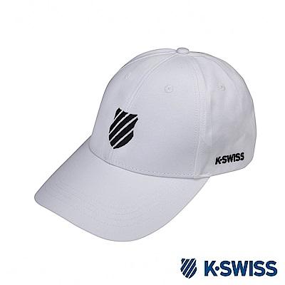K-SWISS Baseball Caps時尚棒球帽-白