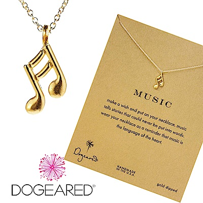 Dogeared 音符 雙邊款 金色許願項鍊 Make Music 幸福樂章 附原廠盒