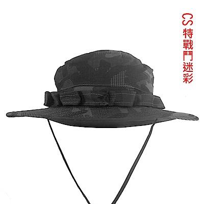 山行Mountain Trip 圓頂特戰迷彩帽MC-247(附國旗徽章)
