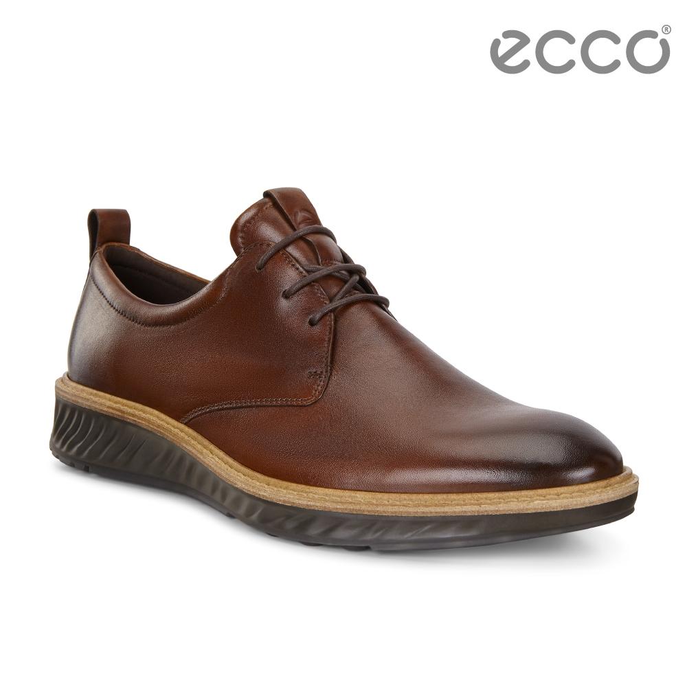 ECCO ST.1 Hybrid 運動紳士牛津正裝鞋 男-深棕色