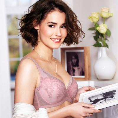 黛安芬-美型大女人系列 D-F罩杯內衣 乾燥玫瑰