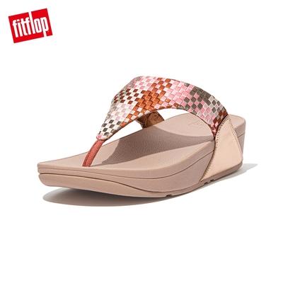 FitFlop LULU SILKY WEAVE TOE-POST SANDALS 經典舒適夾腳涼鞋-女(珊瑚粉)