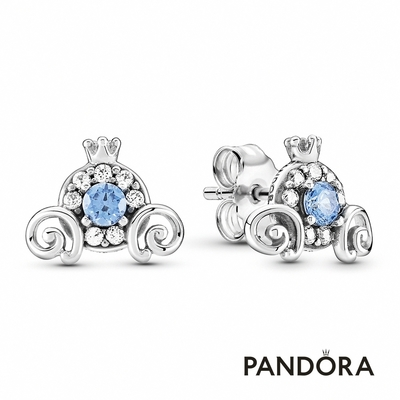 【Pandora官方直營】迪士尼《仙履奇緣》南瓜馬車針式耳環