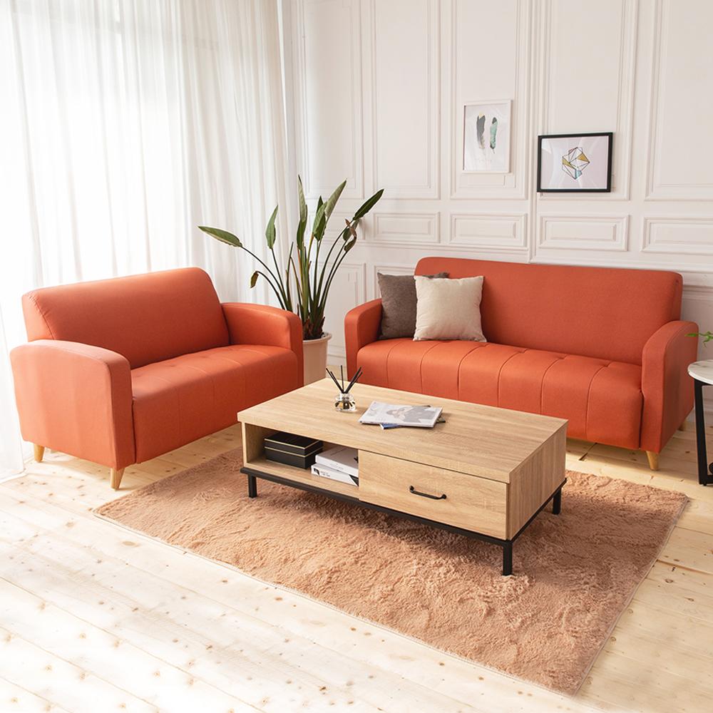 時尚屋 托斯卡尼2+3人座實木骨架貓抓皮沙發 (共11色)