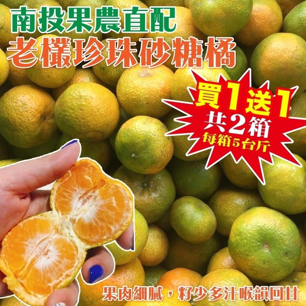 買1送1【果農直配】南投老欉珍珠砂糖橘禮盒5斤,共2箱
