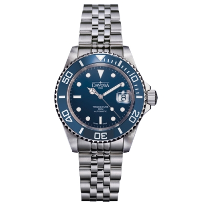 DAVOSA New Ternos Ceramic 200米陶瓷框潛水腕錶-湛藍/40mm