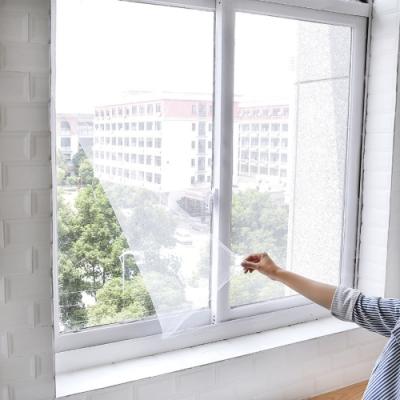[荷生活]自黏式簡易紗窗紗網(小號) DIY可截剪隱形紗窗 附魔術貼