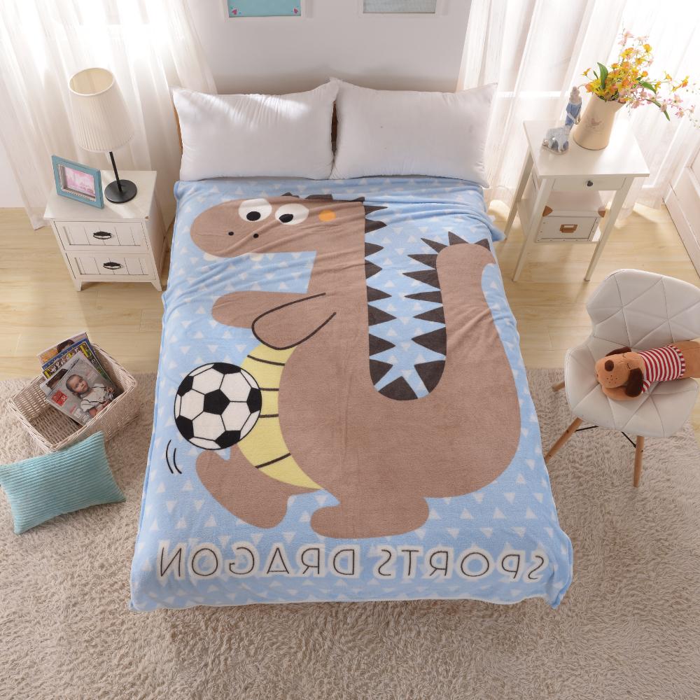 Grace Life 可愛造型多用途定位冷氣毯一入-運動龍 @ Y!購物