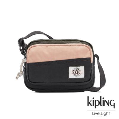 Kipling 甜美草莓抹茶拿鐵雙層輕巧斜背包-SISKO