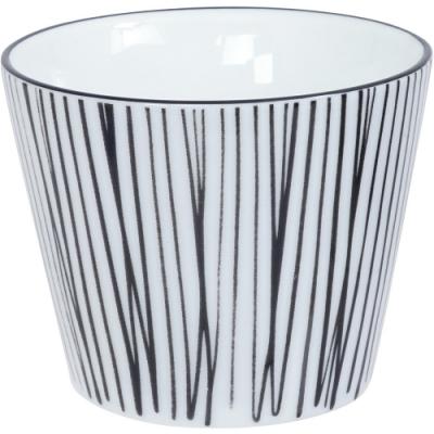 《Tokyo Design》瓷製茶杯(線紋黑170ml)