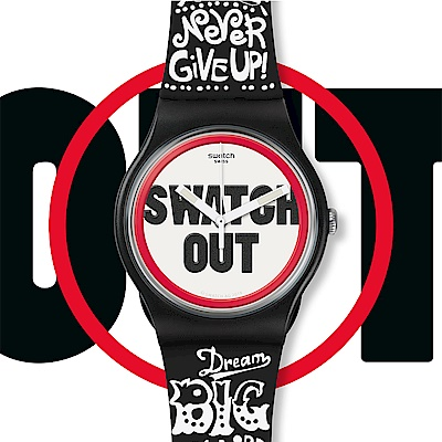 Swatch  Listen to me系列 SWATCH OUT 罩子放亮